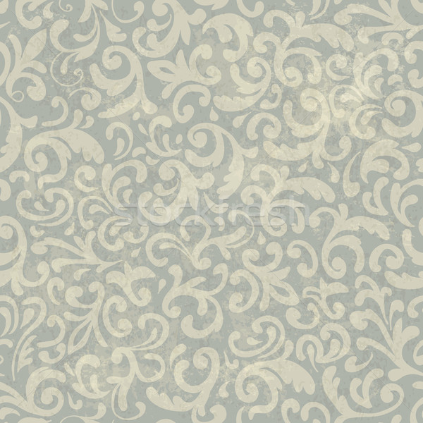 Seamless Vintage Floral Pattern. With Grunge Textured Background Stock photo © pashabo