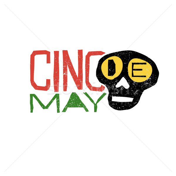 Stock photo: Cinco de Mayo typography. Cinco de Mayo holiday logo.