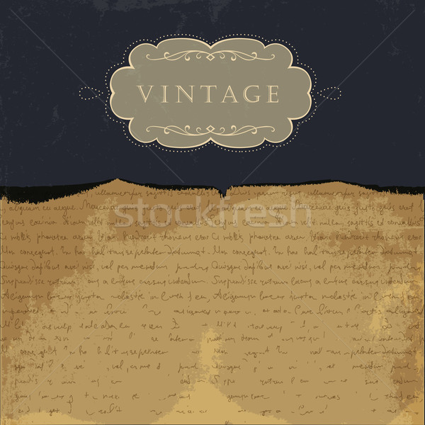 Vintage burned paper background, with space for text. Stock photo © pashabo