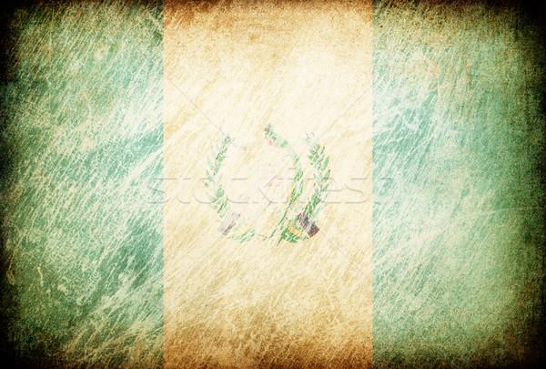 Grunge rubbed flag series of backgrounds. Guatemala. Stock photo © pashabo