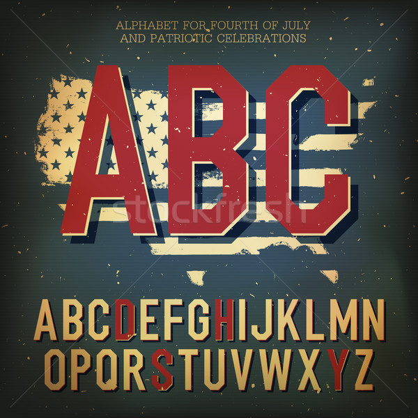 Stock photo: American themed alphabet. With elements for Independence Day, ve