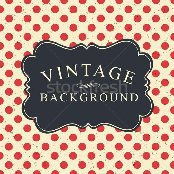 Vintage карт шаблон красный ретро Сток-фото © pashabo