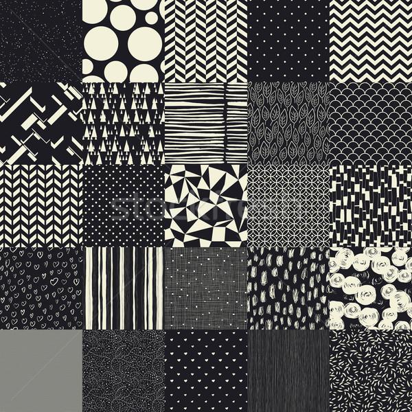 25 sin costura diferente vector patrones naturaleza Foto stock © pashabo