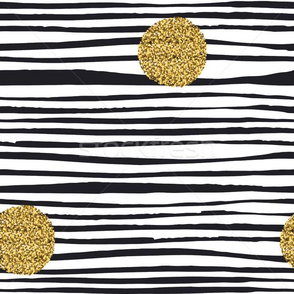 Golden, glitter dots. Grunge polka dots seamless pattern. Abstra Stock photo © pashabo