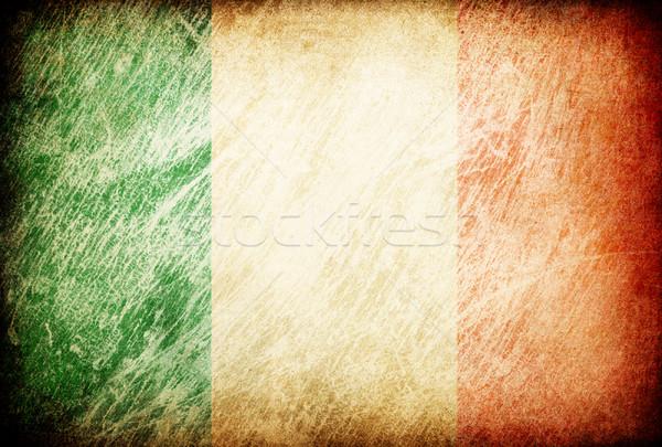 Grunge rubbed flag series of backgrounds. Ireland. Stock photo © pashabo