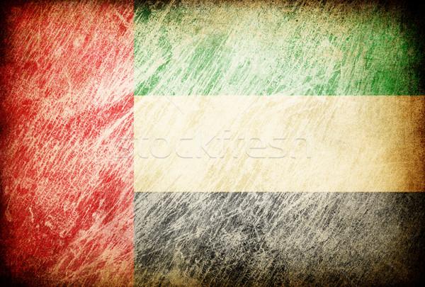 Grunge rubbed flag series of backgrounds. United Arab Emirates. Stock photo © pashabo