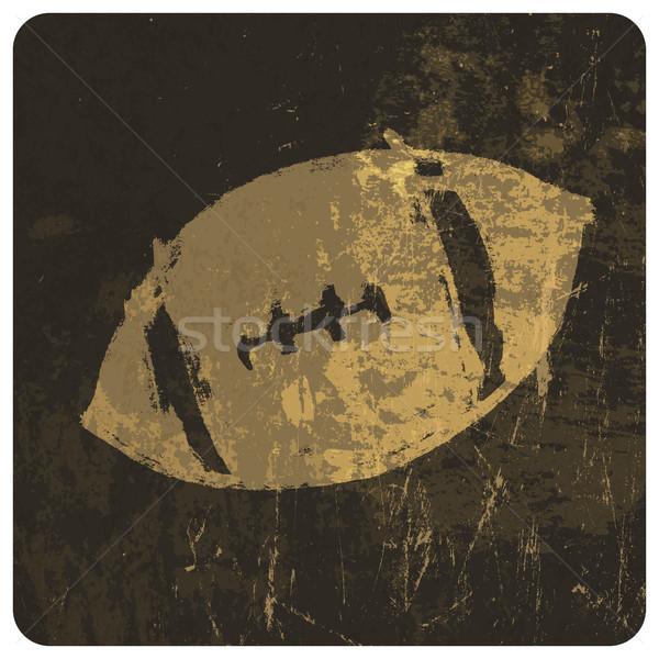 Amerikaanse voetbal illustratie grunge textuur vector kunst Stockfoto © pashabo