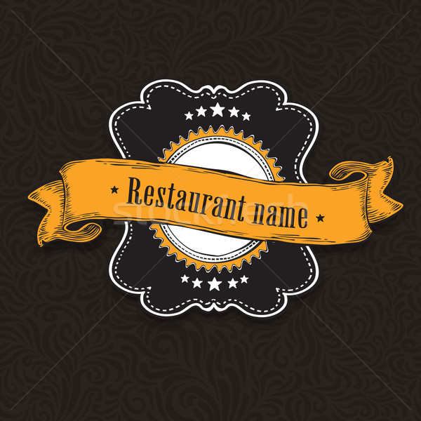 Vintage label on wooden texture. Design elements, EPS10 Stock photo © pashabo