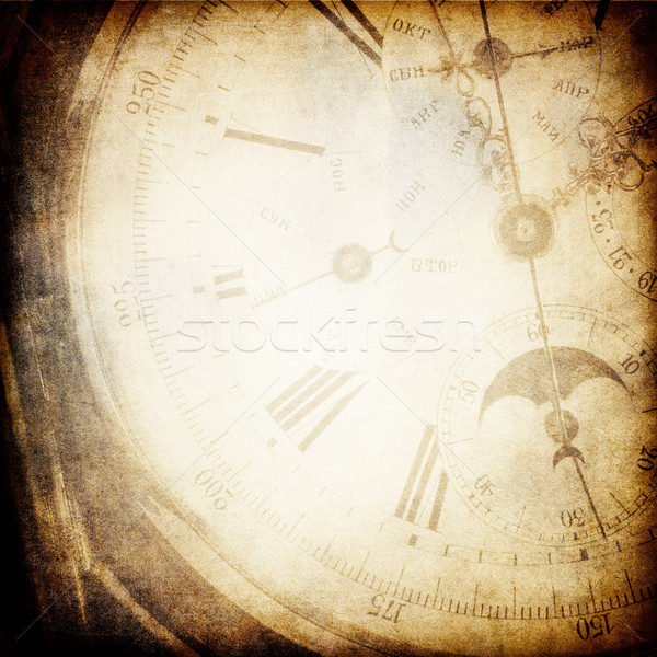 Antique pocket clock face background. Stock photo © pashabo