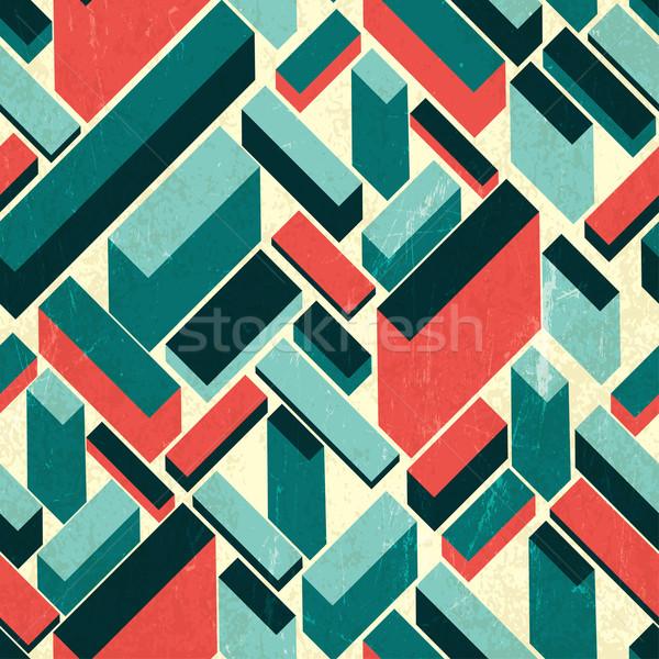 シームレス レトロな ベクトル 建物 壁紙 ヴィンテージ ストックフォト © pashabo