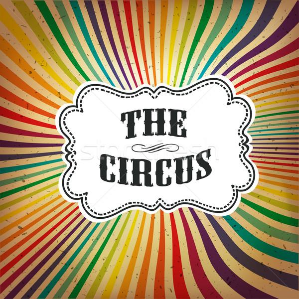 Circo abstract poster colorato raggi vettore Foto d'archivio © pashabo