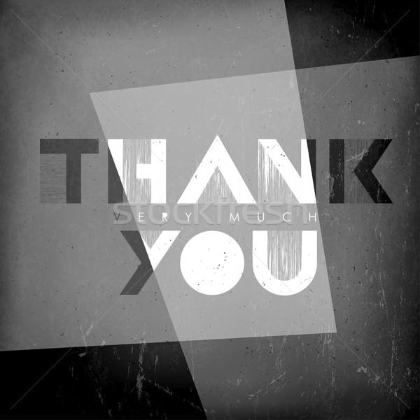 Thank you card. Film noir styled. Stock photo © pashabo