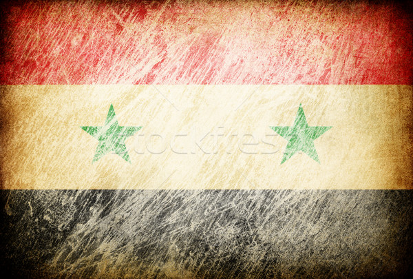 Grunge rubbed flag series of backgrounds. Syria. Stock photo © pashabo