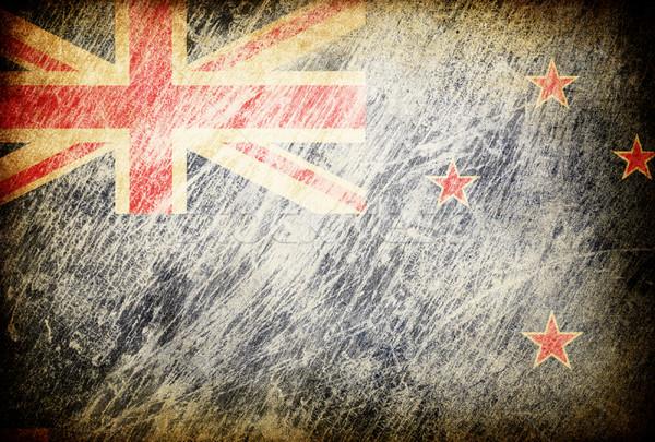 Grunge bandeira fundos Nova Zelândia textura digital Foto stock © pashabo