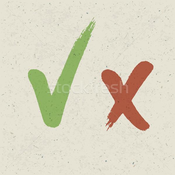 Vérifier texture du papier vecteur eps10 texture vert Photo stock © pashabo