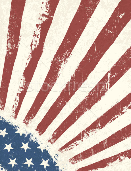 Grunge American Flag background. Vector. Stock photo © pashabo