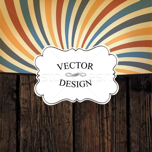 Bağbozumu tasarım şablonu vektör doku renkli rays Stok fotoğraf © pashabo