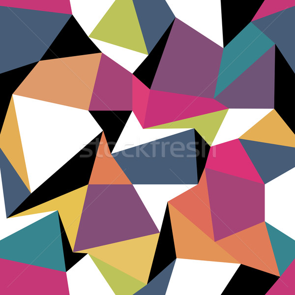 Colorato abstract senza soluzione di continuità disegno geometrico moda blu Foto d'archivio © pashabo