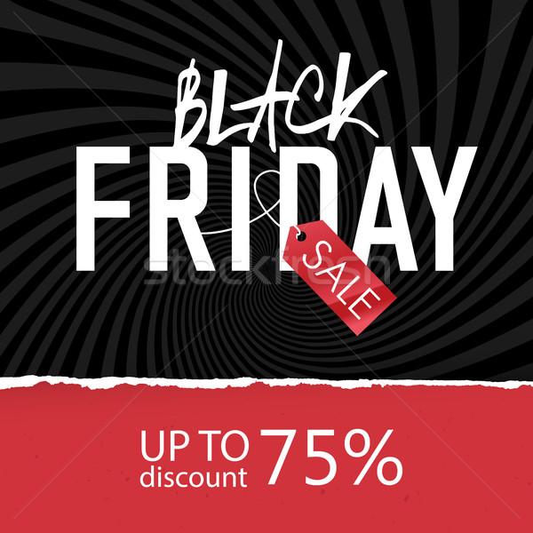 Black Friday Sale poster. Design template Stock photo © pashabo