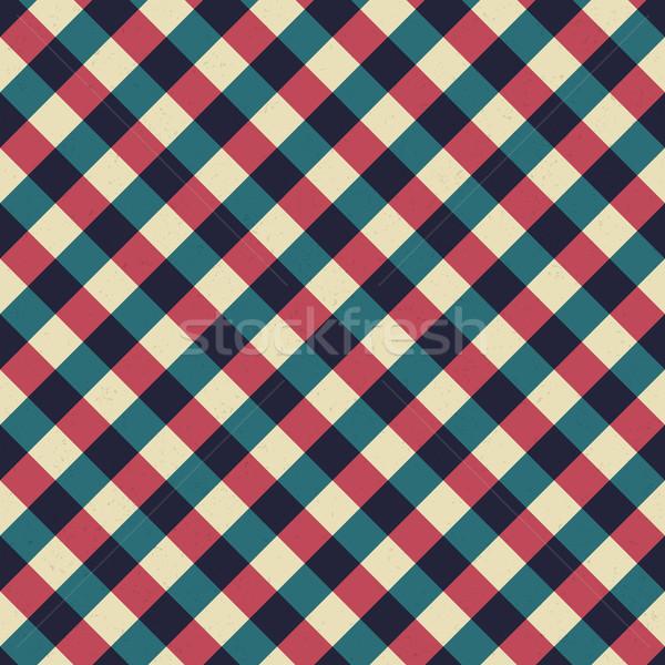 ヴィンテージ テーブルクロス レトロな 対角線 赤 ストックフォト © pashabo