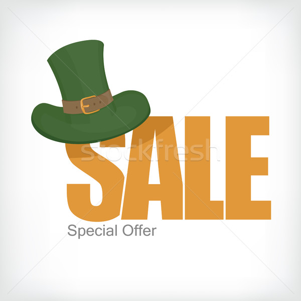 Saint Patrick's sale template. Celebration design for March, 17t Stock photo © pashabo