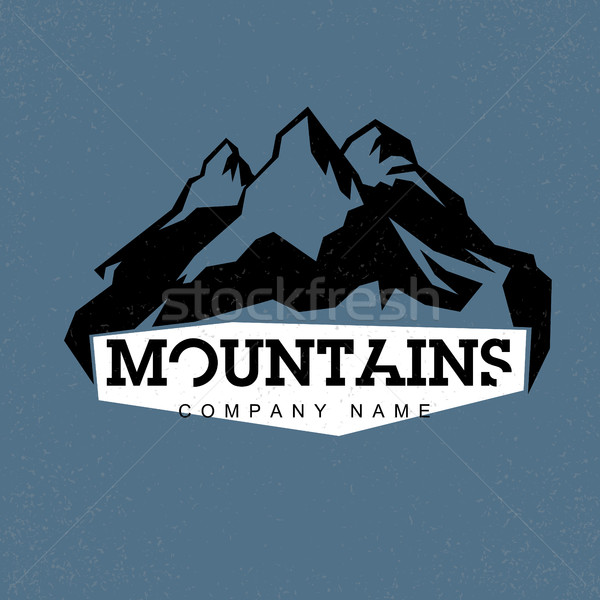 Blue Peaks. Mountains illustration. Vector abstract logo for adv Stock photo © pashabo