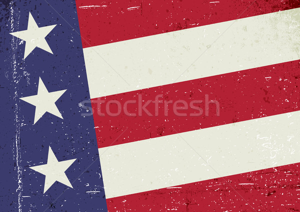 Grunge United States of America flag. Abstract patriotic backgro Stock photo © pashabo
