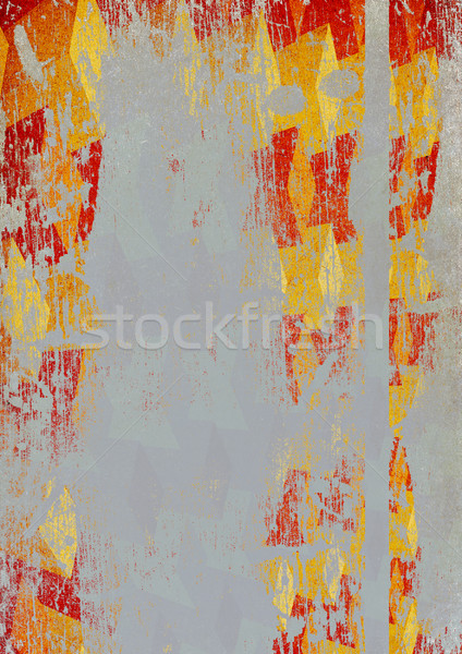 Vintage three-dimensional scratched colorful background (A4 form Stock photo © pashabo