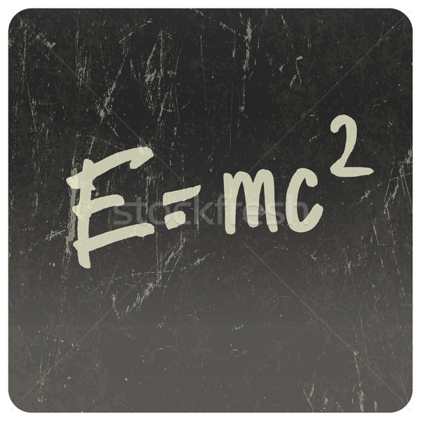 E=mc2. Theory of relativity, writings on blackboard. Vector Stock photo © pashabo