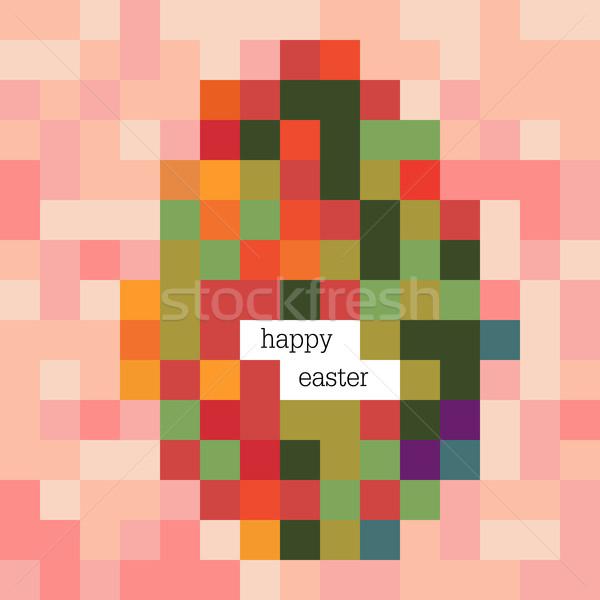 Easter egg renkli görüntü iyi paskalyalar piksel Stok fotoğraf © pashabo