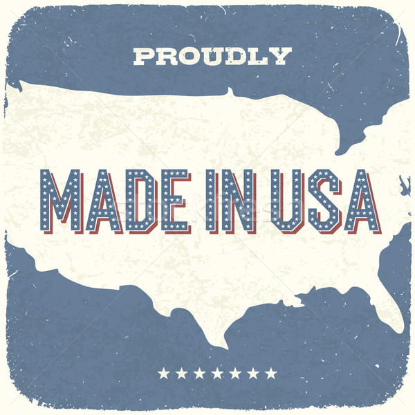 Proudly Made in USA. Vintage Background, Vector, EPS10. Stock photo © pashabo