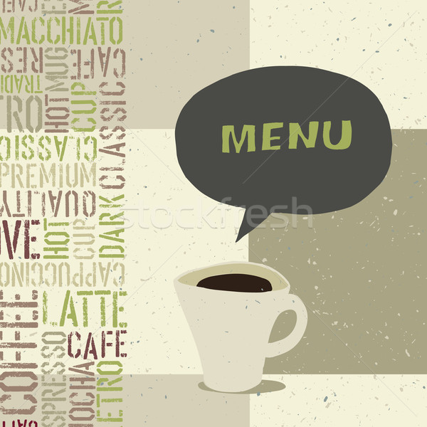 Menu sjabloon vector eps8 bloem papier Stockfoto © pashabo