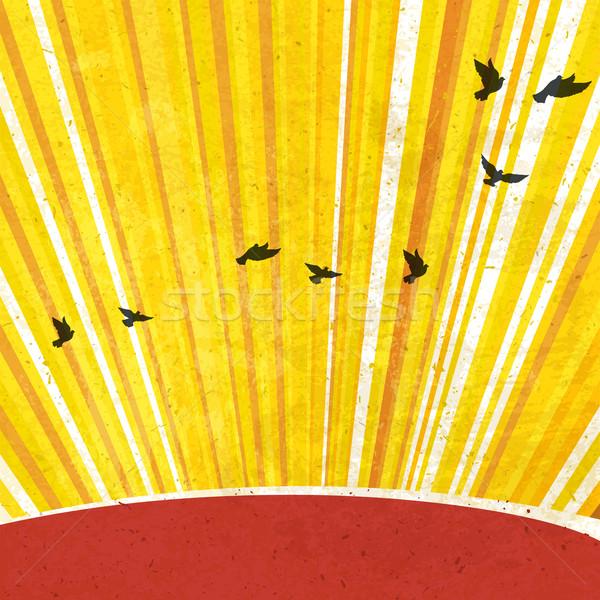 Retro Sunrays Background. Vector, EPS10 Stock photo © pashabo