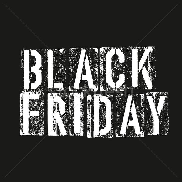 черная пятница реклама дизайн шаблона аннотация письме штампа Сток-фото © pashabo