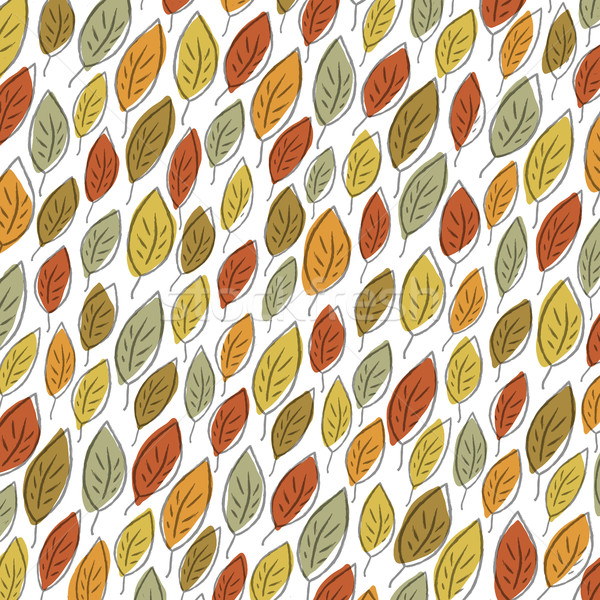 Autumn fallen leaves pattern. Element for holiday greeting cards Stock photo © pashabo
