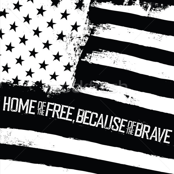 Home of the free, because of the brave. American Flag with wavy  Stock photo © pashabo