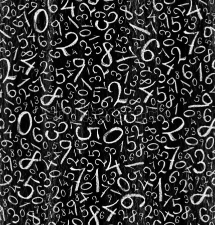 Seamless pattern: simple numbers on blackboard background Stock photo © pashabo