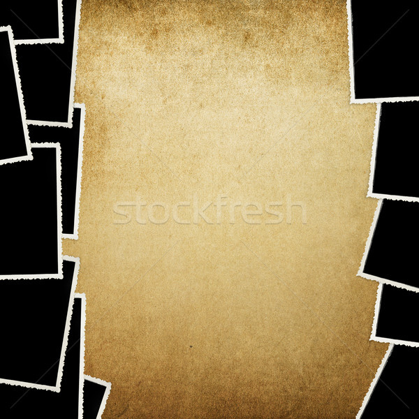 Old photos on vintage texture. Background with space for text. Stock photo © pashabo