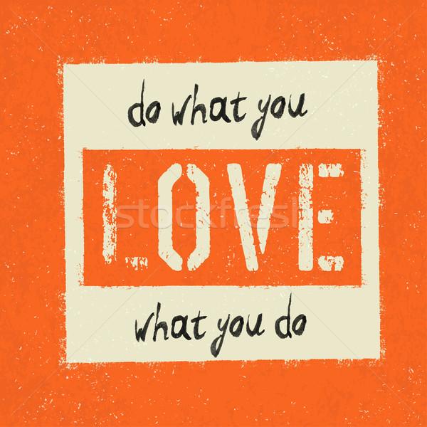 Вдохновенный плакат ретро Гранж оранжевый чернила Сток-фото © pashabo