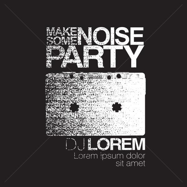 шум ночь вечеринка Flyer черно белые Сток-фото © pashabo