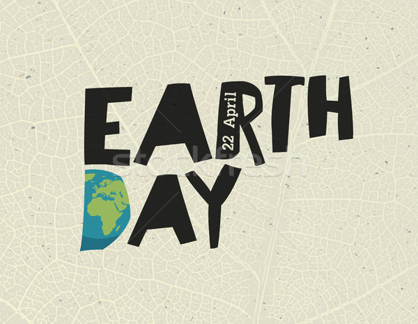 Earth Day,  22 April. Design template with free space for text o Stock photo © pashabo