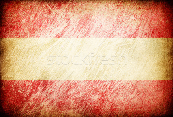 Grunge rubbed flag series of backgrounds. Austria. Stock photo © pashabo