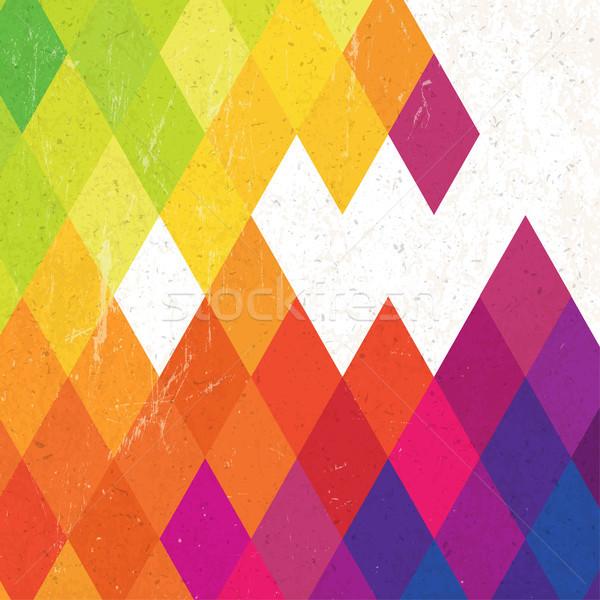 Retro colorful rhombus background, vector Stock photo © pashabo