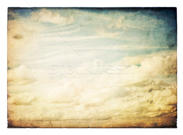 Vintage sky image, isolated. Stock photo © pashabo