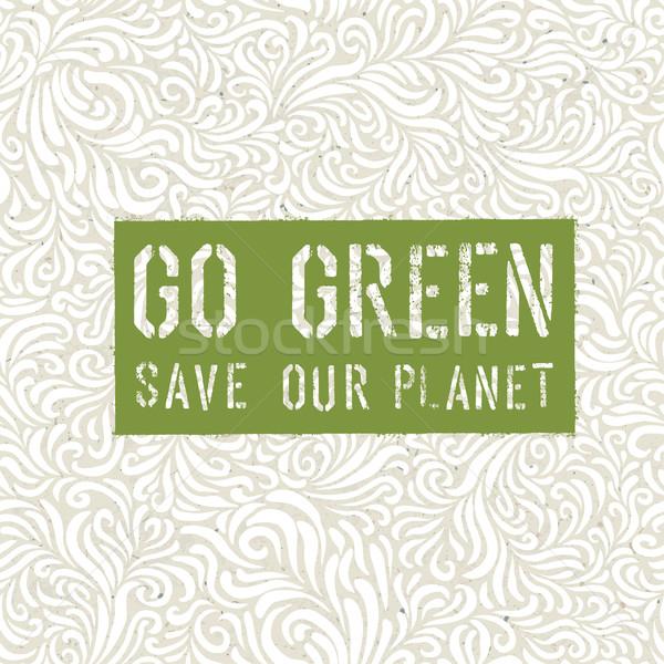 Go Green Concept Poster Stock photo © pashabo