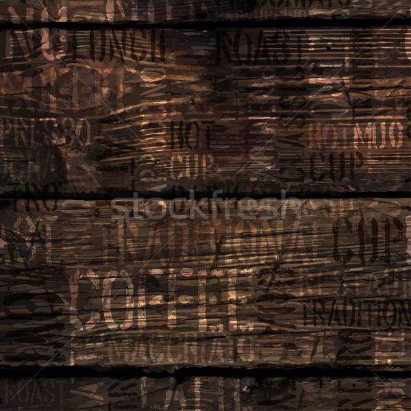 Café experiencia palabras textura vector Foto stock © pashabo