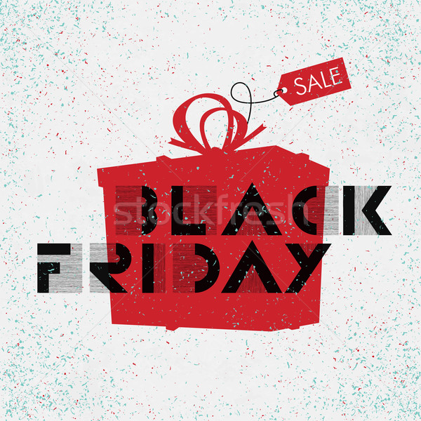 Black friday de vendas publicidade cartaz fácil projeto Foto stock © pashabo