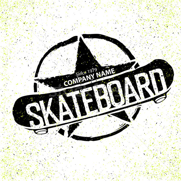 Vintage Skateboard Logotype. With star in circle sign. Can be us Stock photo © pashabo