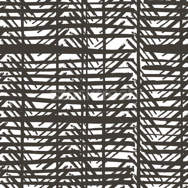 Hand drawn stripes pattern. Seamless vector design. Stock photo © pashabo