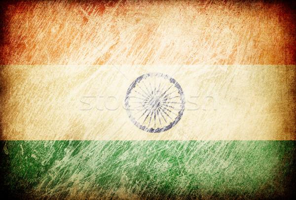 Grunge rubbed flag series of backgrounds. India. Stock photo © pashabo